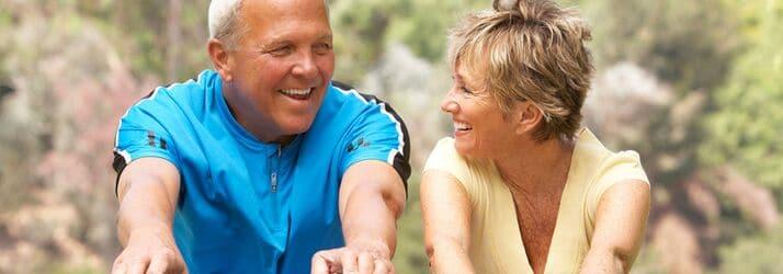 Active Older couple Victoria BC